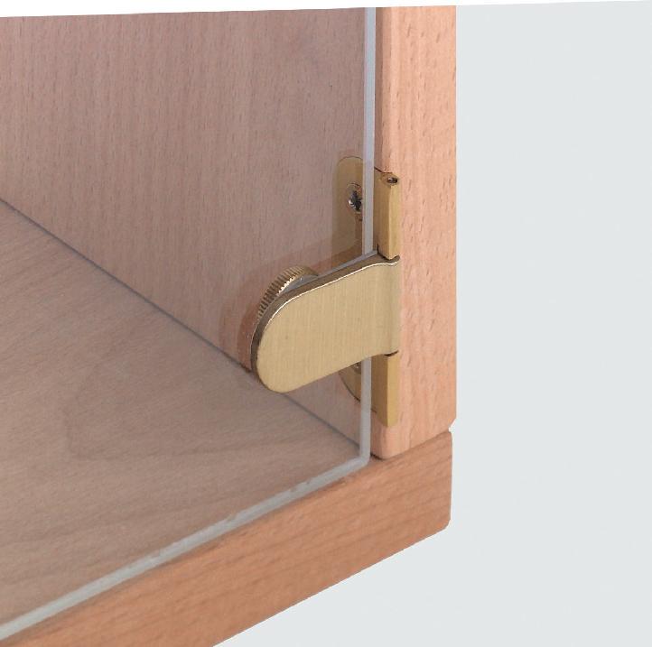 Hafele glass door hinge brass