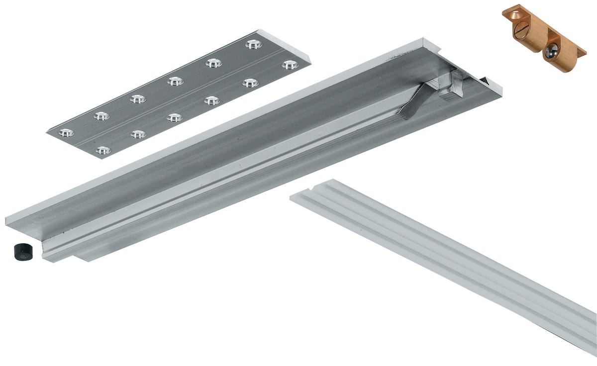 Hafele vario drop leaf fitting set silver for Table hardware