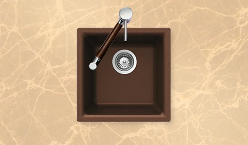 Houzer Sinks : ... Houzer > Houzer Bathroom Sinks > Houzer E-100EARTH Bar/Prep Sink