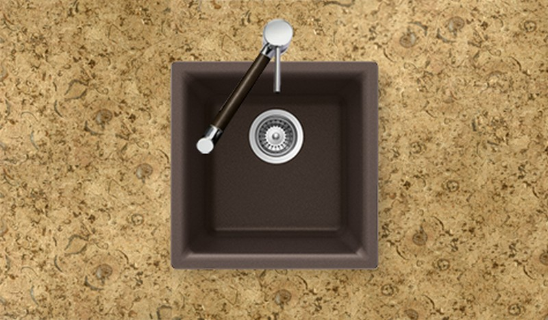 ... Houzer > Houzer Bathroom Sinks > Houzer E-100MOCHA Bar/Prep Sink