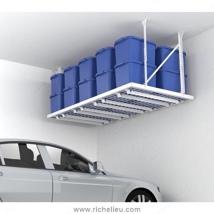 """Richelieu 16430 HyLoft 96"""" x 48"""" Super Pro Ceiling Storage Unit, White ..."""