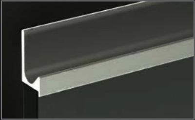 Richelieu 318812140 Handle J Shape For 5 8 Panel Anodized Aluminum