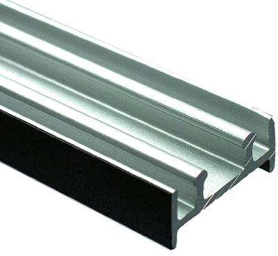 richelieu tra110078 double track for 1 4 in glass sliding