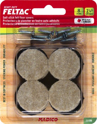 Richelieu 23106 heavy duty screw on felt pads rounds - Screw in felt pads ...