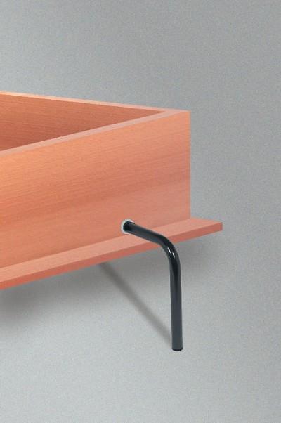 Hafele 271.95.361 Foldaway Bed Leg, Aluminum