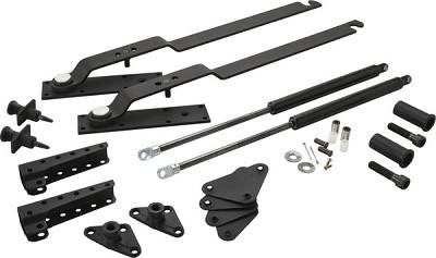 Hafele 271.97.301 Hiddenbed Folding Bed Mechanism, Double Black Frame
