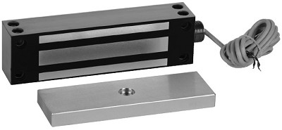RCI 8380TJ Electromagnetic Lock 12/24VDC Satin Stainless Steel