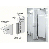 CRL 2PC Restroom Privacy Covers