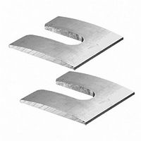 CRL AACS2 SurfaceMate Two-Piece Curved Block for Fascia Mount Installations