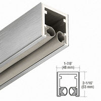 CRL C7501BS Head Channel, Brushed Stainless