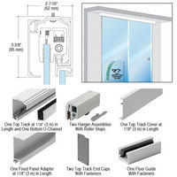 CRL CRL2810FCRL280 Series Single Sliding Door with Fixed Panel Wall or Ceiling Mount Installation Kit