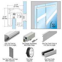 CRL CRL2810GCRL280 Series Single Sliding Door Glass Fixed Panel Mount Installation Kit