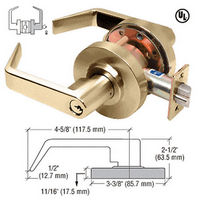 CRL D70STRPB Polished Brass Lever Locksets Storeroom - Schlage 6-Pin