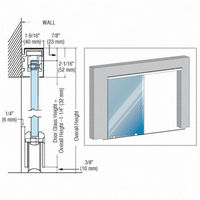 CRL GSDH1PS GSDH1 Series Single Bottom Rolling Door Installation Assembly - 118
