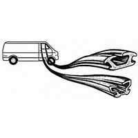 CRL 1012611GM 1980-1990 Caprice Front Door Driver Side and Passenger Side Window Channels