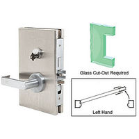 CRL DL610LEBS LH Center Lock with Deadlatch in Entrance Lock Function