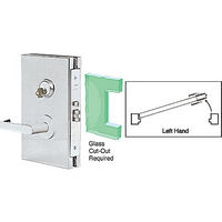 CRL DL610LSBS LH Center Lock with Deadlatch in Storeroom Function