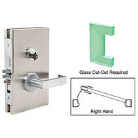 CRL DL610REBS RH Center Lock with Deadlatch in Entrance Lock Function