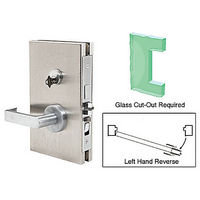 CRL DL611LEBS LHR Center Lock with Deadlatch in Entrance Lock Function