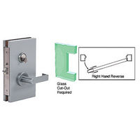 CRL DL611RSBS RHR Center Lock with Deadlatch in Storeroom Function