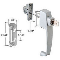 CRL K5089 Screen and Storm Door Keyed Push Button Latch with Tie Down Screw and 1-3/4