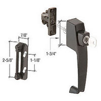 CRL K5090 Screen and Storm Door Keyed Push Button Latch with Tie Down Screw and 1-3/4