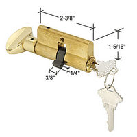 CRL K5105 Screen and Storm Door Key Cylinder with Thumbturn with Schlage Keyway