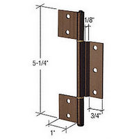 CRL K5153 Florida Brown Offset Replacement Hinge with 1/8