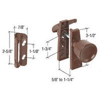 CRL K5170 Chocolate Brown Screen and Storm Door Tulip Knob Latch with 1-3/4
