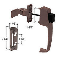 CRL K5171 Chocolate Brown Screen and Storm Door Push Button Latch