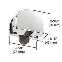 CRL PTH23SA Top Transom Door Stop Patch Fitting, Satin Anodized