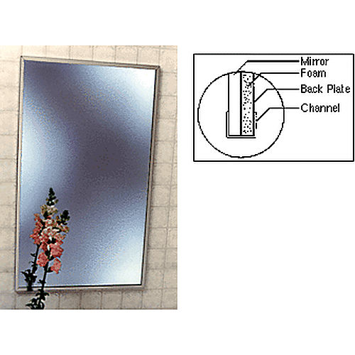 Crl 1001824 stainless 18 x 24 standard channel framed for Mirror 18 x 24