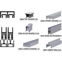 CRL D2301A Deluxe Track Assembly, Satin Anodized