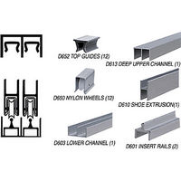 CRL D2307A Deluxe Track Assembly, Satin Anodized