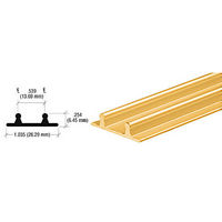 CRL D602GALower Channel for Deep Recess Installations, Gold Anodized