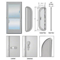 CRL 900A Deluxe Mail Slot, Satin Anodized