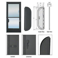 CRL 900DU Deluxe Mail Slot with Glass Channel Bar and No Latch