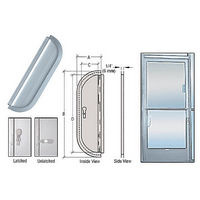 CRL 935A Deluxe Mail Slot, Satin Anodized