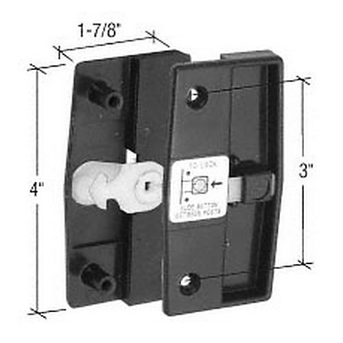 """CRL A165 Sliding Screen Door Latch and Pull with 3"""" Screw"""