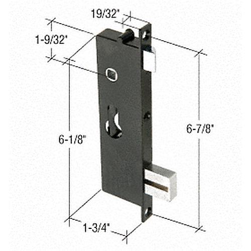 Crl k5064 screen and storm door mortise lock insert with 6 for Storm door screen insert