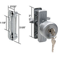 CRL K5078 Keyed Screen and Storm Door Knob Latch with 3