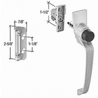 CRL K5107 Storm and Screen Door Push Button Latch with 1-1/2