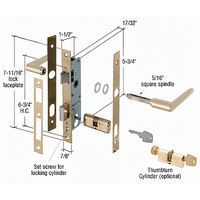 CRL K5130 Brass Storm Door Mortise Lock with 6-3/4
