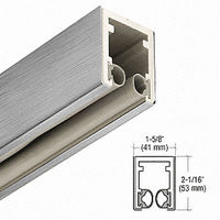 CRL C7500BS Head Channel, Brushed Stainless