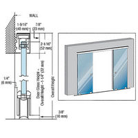 CRL GSDH2PS GSDH2 Series Bi-Parting Bottom Rolling Door Installation Assembly - 118