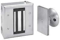 ABH 2510 Recessed Electro-Magnetic Door Holder - Surface Wall Mount & Armature