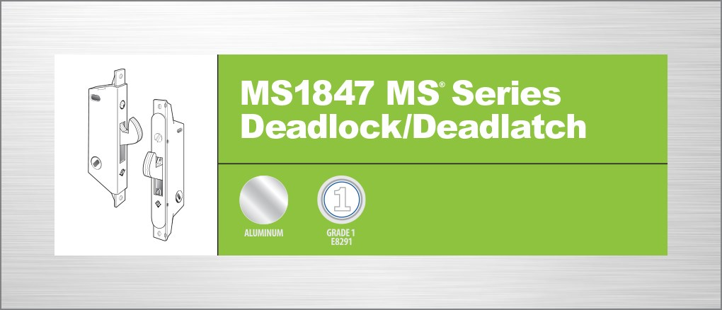 Adams Rite Ms1847 06 630 Deadlock 41 0197 Satin Stainless