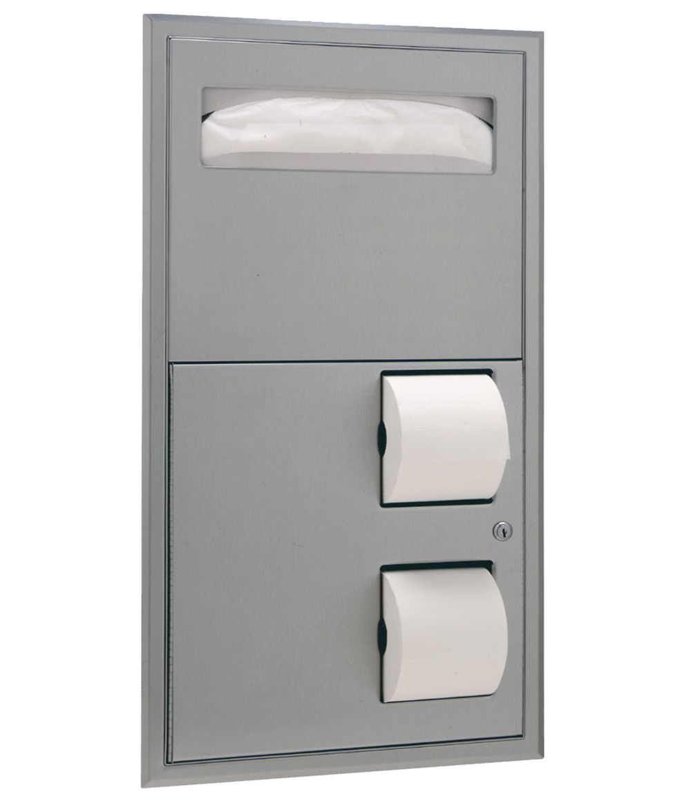 Swell Bobrick B 3474 Toilet Seat Cover Dispenser Dual Roll Dispenser Bralicious Painted Fabric Chair Ideas Braliciousco