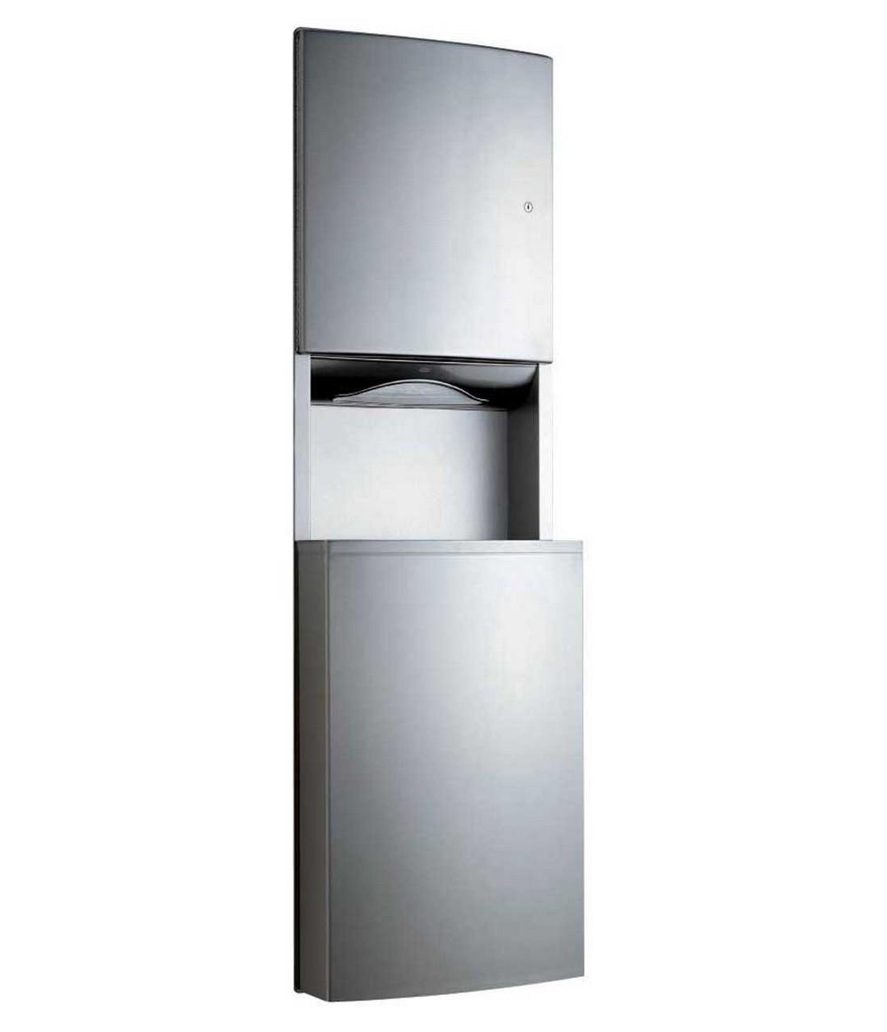 Bobrick B 43944 Paper Towel Dispenser Waste Receptacle