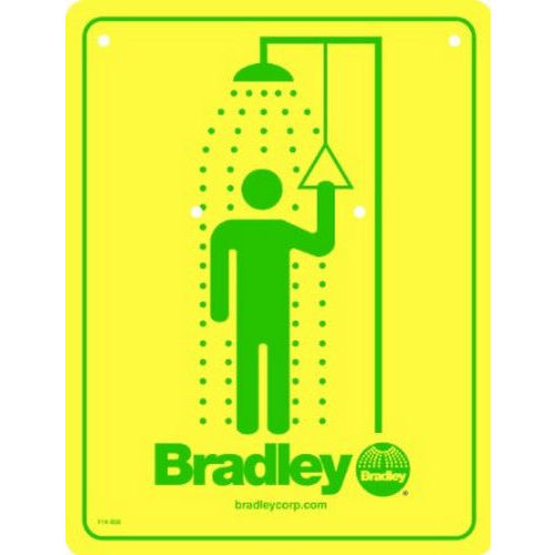 Bradley 114-050 Safety Sign, Shower